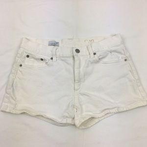 Gap Women's White Denim Slim Shorts 27
